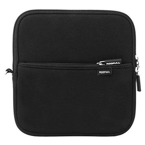 ROOFULL External USB DVD Blu-ray Hard Drive Protective Storage Carrying Sleeve Case Pouch Bag for Apple Superdrive, Magic Trackpad, SAMSUNG/ ASUS / Dell / LG External DVD Drive, Black