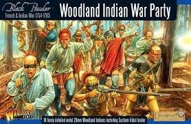 Warlord Games, Woodland Indian War Party, Black Powder Wargaming Miniatures by Black Powder