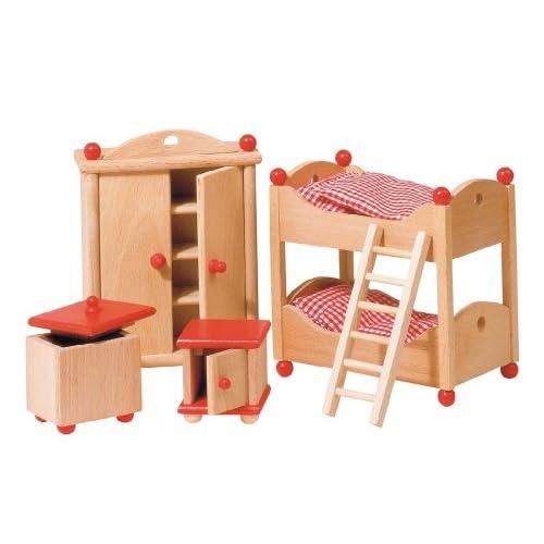 Goki 51953 - Mobilier de Poupée - Meuble pour Poupée - Chambre des Enfants