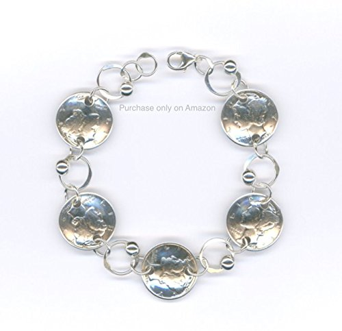 1943 Silver Dime Bracelet 75th Birthday Gift Jewelry Women Unique Gifts For