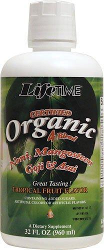 Lifetime 4 Juice Organic Blend Liquid Mixed Fruit, 32 Fluid Ounce