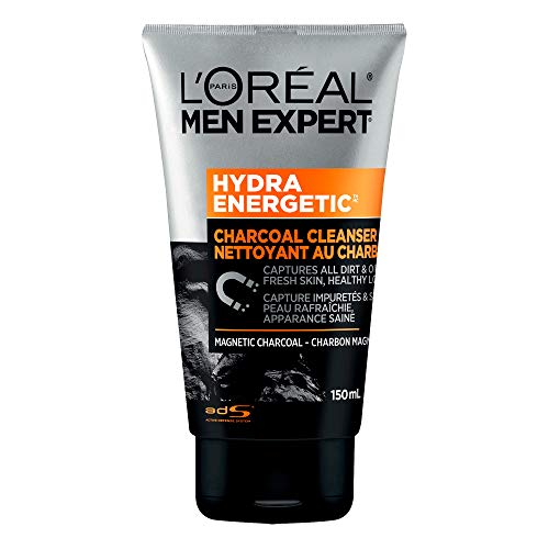 L'Oreal Paris Men Expert Hydra Energetic Magnetic Charcoal Cleanser, Foaming Face Wash, 150 ML