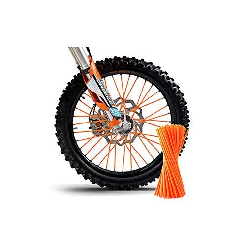 TiooDre Spoke Pelli, ha parlato di Copertura Motocross Dirt Bike Enduro cerchione coprimoto parlato Wrap Skin Kit Covers Motocross Dirtbike cerchione Wrap Covers Universale Green-36Pcs (Arancione)
