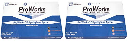 Hospeco DA-AP2846 ProWorks Disposable Apron, 2 Mil Polyethylene, 28'' Length x 46'' Width (Box of 100) (Тwo Рack) by Hospeco (Image #2)