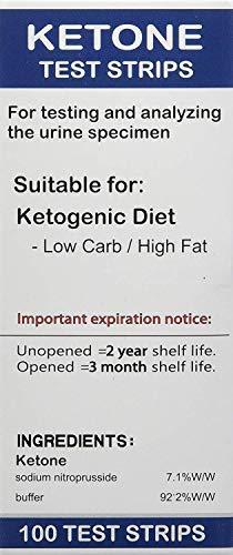 Tiras de cetonas Smackfat - Perfectas para diabéticos y dietéticos - Medición precisa de cetonas y compatibilidad con la adaptación de cetonas, 100 tiras