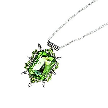 Amazon com: Green Crystal Pendant Necklace - Once Upon a