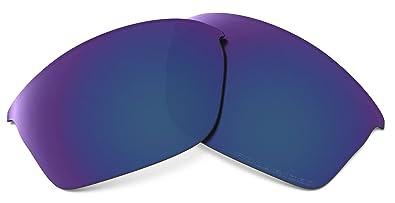 0b9f8f96ab Oakley Flak Jacket Adult Lens Kit Lifestyle Sunglass Accessories - Deep  Blue Iridium Polarized   One