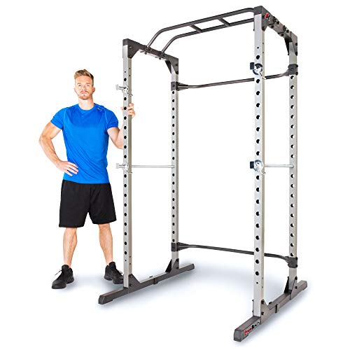 Fitness Reality 810XLT Super Max Power Cage with Optional Lat Pull-down Attachment and Adjustable Leg Hold-down
