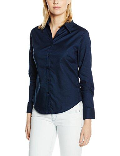 Fruit Of The Loom SS111M, Camiseta de Manga Corta Para Mujer azul - azul marino