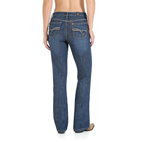 Wrangler Women's Plus Size Aura Instantly Slimming Mid-Rise Jean, Medium Blue, 20W - Instantly Jeans Aura Slimming