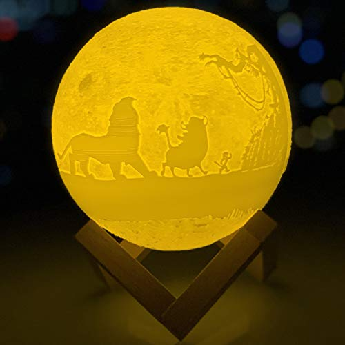 VTH Global Hakuna Matata 3D Printed LED Moon Lamp Night Lights - Touch Control Moon Light
