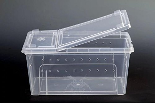 Karen Low Reptile Snake Turtle Breeding Box Large Case Feeding Hatching Container 12.5x8.6x5.9 Inch