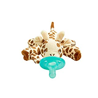Philips Avent Soothie Snuggle Pacifier Holder with Detachable Pacifier, Giraffe, 0m+