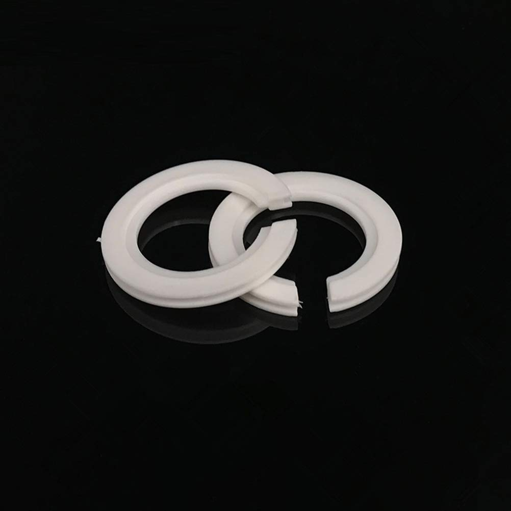 IMIKEYA 10Pc E27 Convert to E14 Lampshade Lampada Light Fix Ring Adattatore Rondella Transverter E27 E14 Lamp Shade Retaining Ring Bianco
