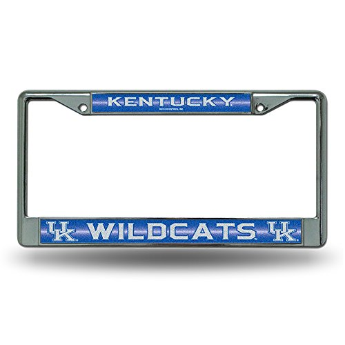 NCAA Kentucky Wildcats Bling Chrome License Plate Frame with Glitter Accent