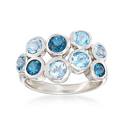Topaz Bubble - Ross-Simons 2.50 ct. t.w. Blue Topaz Bubble Ring in Sterling Silver