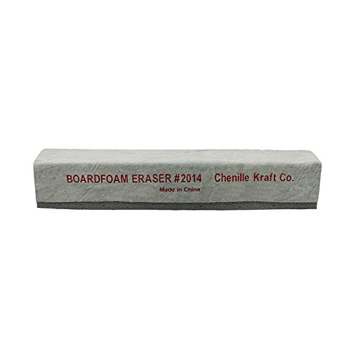 Chenille Kraft CK-2014BN Latex & Suede Eraser, 12'' (Pack of 12) Grade Kindergarten to 1 Age 12'' Height, 2.25'' Wide, 12'' Length (Pack of 6) by Chenille Kraft