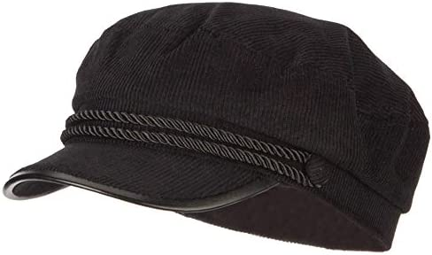 e2cf49d64 SS/Hat Corduroy Greek Fisherman Captain Cap with Rope - Black OSFM ...