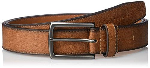 Geoffrey Beene Men's Cut Edge Casual Belt with Gunmetal Buckle, Tan, 36 ()
