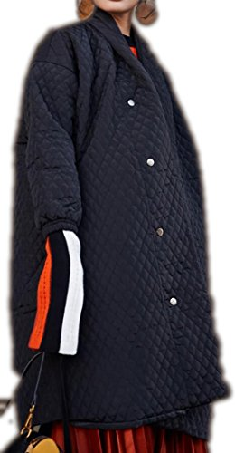 Solid Color Coat Outerwear Black - 4