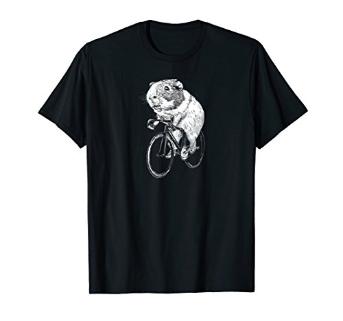 Guinea Pig Wheels T Shirt - Guinea Pig Riding Bicycle Tees
