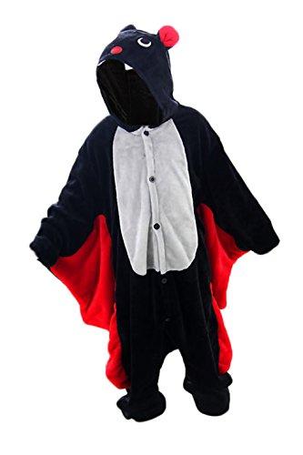 One Piece Pajamas Family Pajamas Animal Costume Onesie Sleepwear for Parent - Child Clothes (SX, ChildBat)