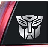 "Transformers Autobot Vinyl Decal Sticker (6"" X 5.5"", Shiny Chrome)"
