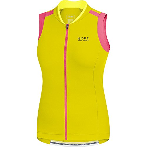 Gore Bike WEAR Women's Power Lady 3.0 Singlet, L, Sulphur Yellow/Giro Pink ()
