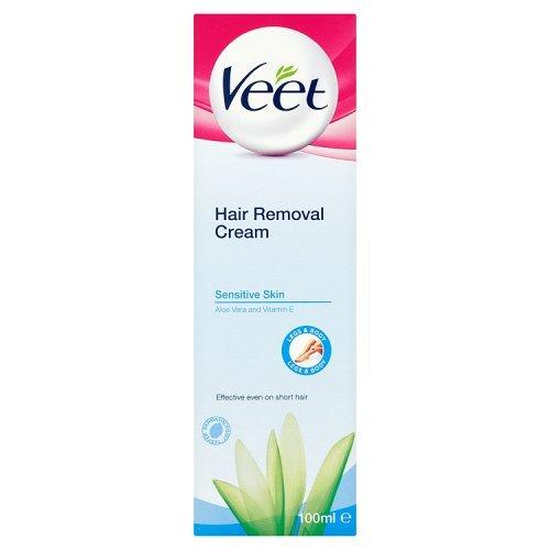 Veet Sensitive Skin Haarentfernungs-Creme Aloe Vera & Vitamin E, 100ml