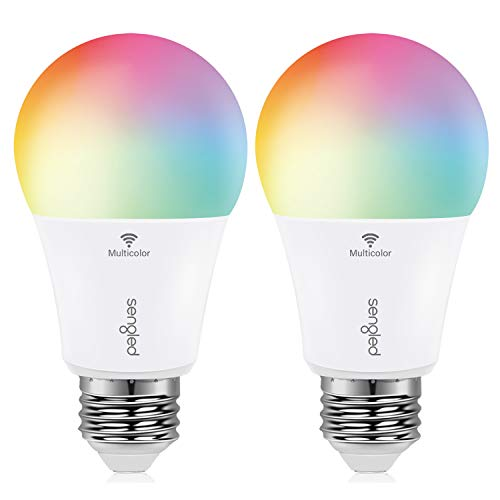 Sengled Smart Bulb, Color Changing Smart Bulbs Work with Alexa & Google Assistant, WiFi Light Bulbs No Hub Required A19 RGB Multicolor LED Light Bulb 60W Equivalent 800LM, 2 Pack