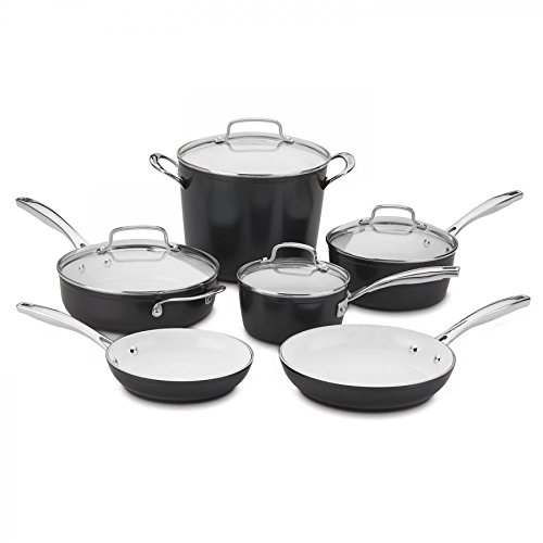 Cuisinart 10 Piece Elements Pro Induction Non-Stick Set, 14.62