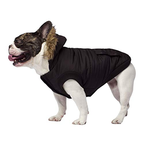Canada Pooch | North Pole Dog Parka | Water-Resistant Insulated Dog Jacket (12, Black)