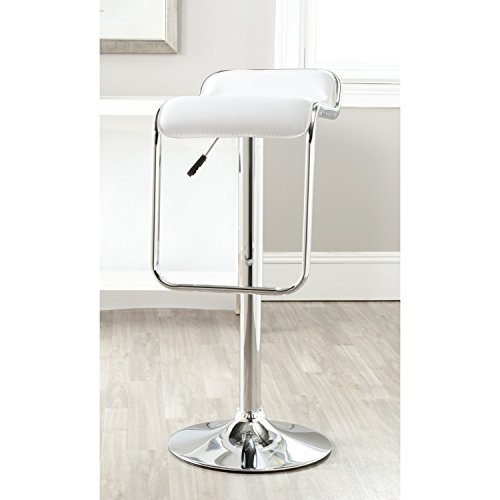Safavieh Home Collection Taronda White Adjustable Swivel Gas Lift 23.8-32.3-inch Bar Stool