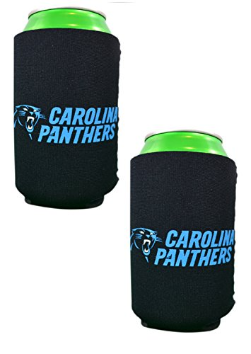 Official National Football League Fan Shop Authentic 2-Pack NFL Insulated 12 Oz Can Cooler (Carolina Panthers - Small Logo) (Shop Logo)