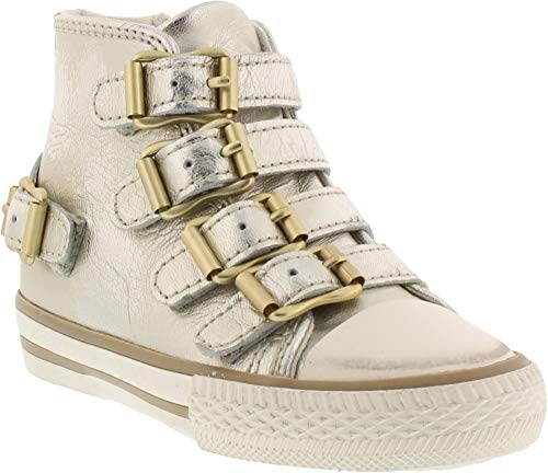 ASH Girls' Vava Toddler Sneaker, Gold, 30 M EU Little Kid (12 US) (Ash Slip On Sneaker)