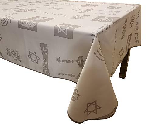 - Shabbat Shalom -Yom Tov -Anti Stain Tablecloth Jewish (58