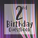 2nd Birthday Guest Book: Purple Pink Circus Curtain Themed - Second Party Baby Anniversary Event Celebration Keepsake Book - Family Friend Sign in ... W/ Gift Recorder Tracker Log & Picture Space