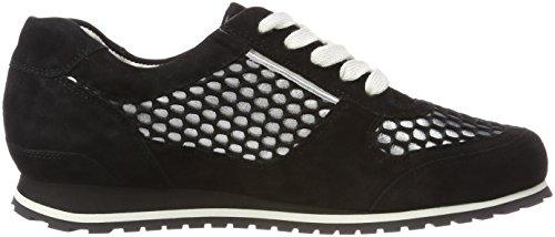 0176 G Nero Donna Weite silber Sneaker Piacenza Hassia schwarz 8E67qI