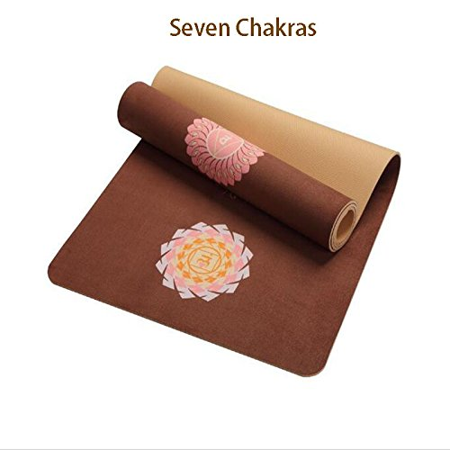Amazon.com : 5 MM Lotus Pattern Suede Yoga Mat Pad Non-Slip ...