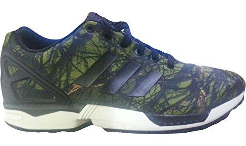 Adidas Men's ZX Flux Deep Forest Sneakers B34139 Camo / Black Carbon US 8