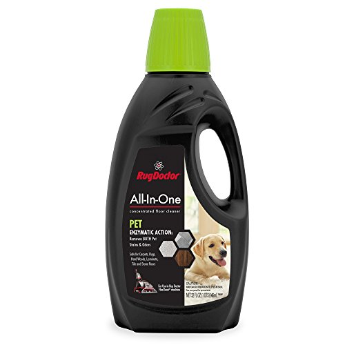 Rug Doctor FlexClean All-In-One Pet Solution; 32 oz. Dual Action, Pro-Enzymatic Formula for Both Carpet and Sealed Hard Floors; Removes Pet and Biological Stains, Messes and Odors; Use with FlexClean