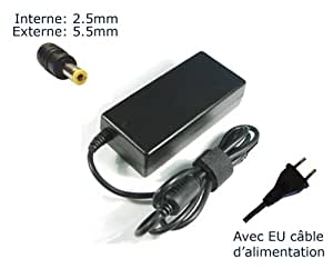"""Lavolta-Adaptador de corriente/cargador para ordenador portátil PACKARD BELL EASYNOTE S.AC/005 (w 65)-ST029 (con garantía de 12 meses, incluye cable de alimentación con enchufe europeo, Power (TM) de marca) """""""