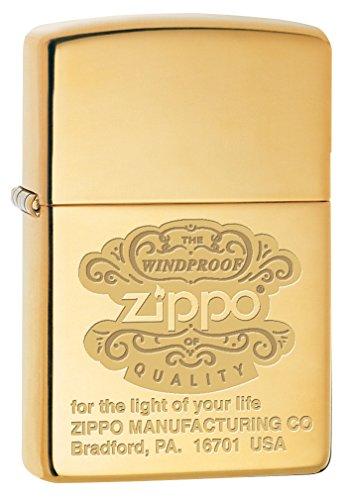 (Zippo Custom Lighter: Zippo Windproof - High Polish Brass 78684)