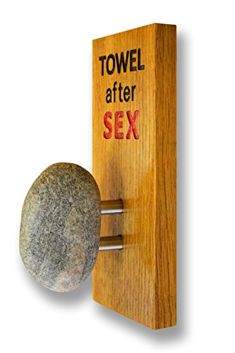 Personalized towel rack with Real Stone - Towel Holder with custom engraved text - Coat Hook Single Towel/Robe Clothes Hook for Bath Kitchen