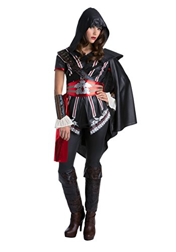 Palamon Women's Assassin's Creed Sassy Ezio Classic Costume, Black, (Assassin Creed Movie Costume)