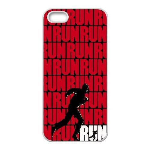 N4C58 Run Haute Résolution Affiche B3G4VP coque iPhone 5 5s cellule de cas de téléphone couvercle coque blanche RY7LPL2SP
