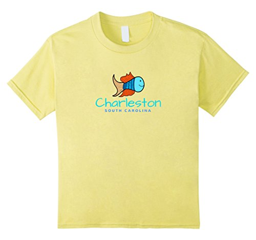 Kids Charleston SC T-Shirt, Fun Fish South Carolina Tee 6 - Shopping Sc Charleston