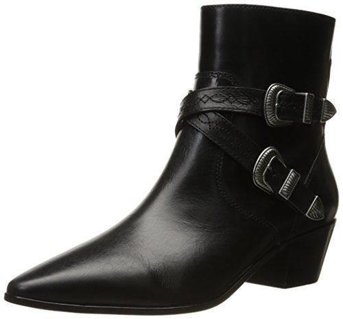 Janet Ankle Boots & - FRYE Women's Ellen Buckle Short Western Boot Black 8 M US