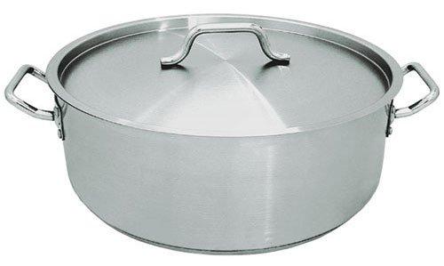 Update International (SBR-25) 25 Qt Stainless Steel Brazier w/Cover by Update International