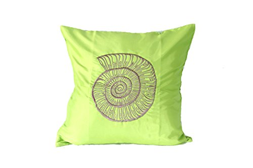 Lotus House Green Silk Pillowcase - Sea Collection (1, Green - Sea) by Lotus House